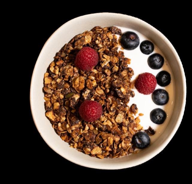 Bol de yogur y granola sin gluten