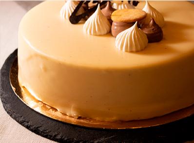 Tarta de chocolate blanco sin gluten