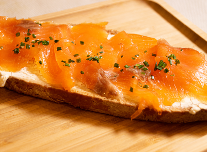 Tosta de salmón sin gluten